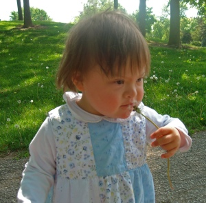 Daughter with Dandelion