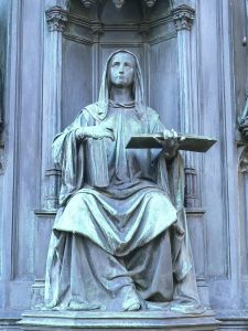 Statue personifying Faculty of Theology
