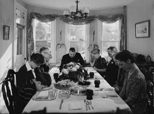Thanksgiving grace 1942 Public Domain