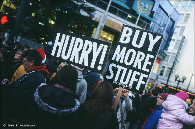 Black Friday shoppers in Seattle, 2010. Photo by John Anderson via Flickr, Creative Commons